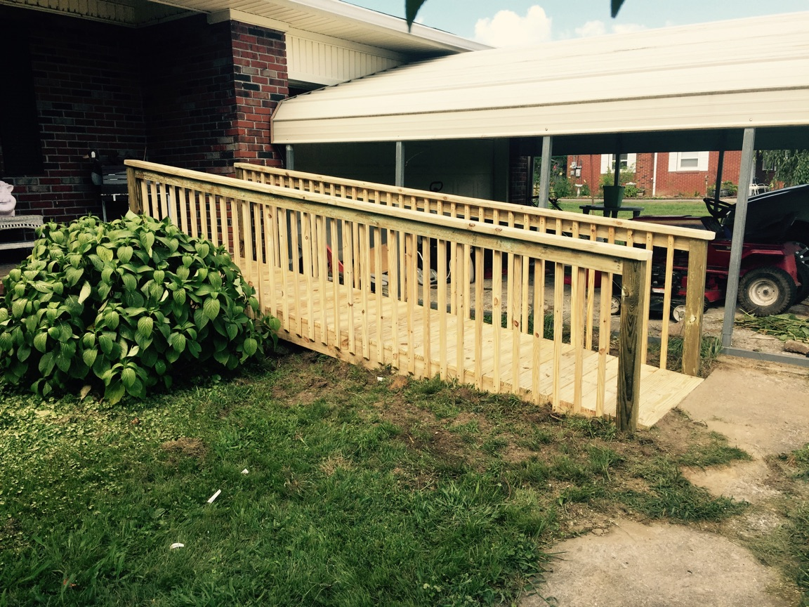 Over half of our projects this year have been wheelchair ramps.